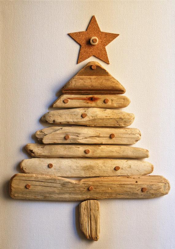 Driftwood Christmas Tree Artwork | SouthwestDesertLover