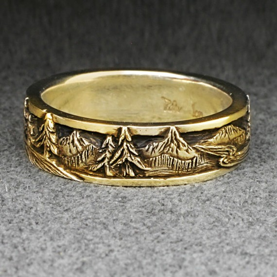 by bandscapes wedding rings and bands - Nature Wedding Rings