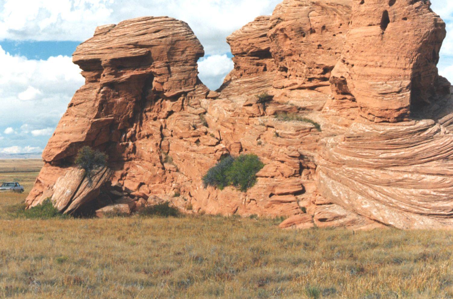 wind eroded rocks | So...