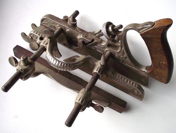 Vintage Stanley Rule No  45 Plough Plane - Woodworking Tool - Wood    Vintage Stanley Tools