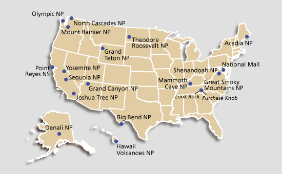 American Parks ESL Resources - Grand canyon location on us map