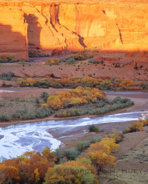 Canyon de Chelly, sunset by George Huey