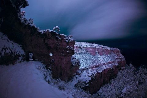 Bright Angel Trail night