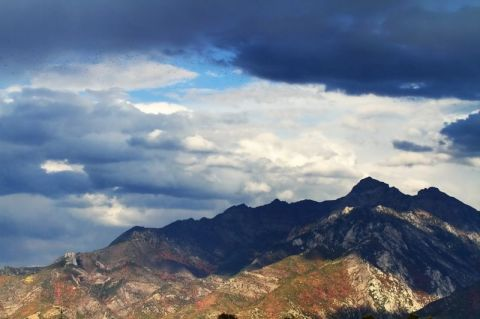 Clouds along the Wasatch Mountains
