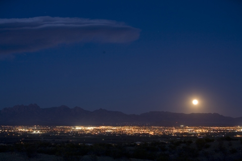 night sky views from Picacho Mountain