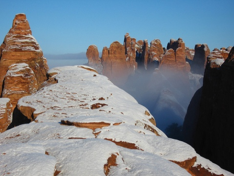 Snow in Arches