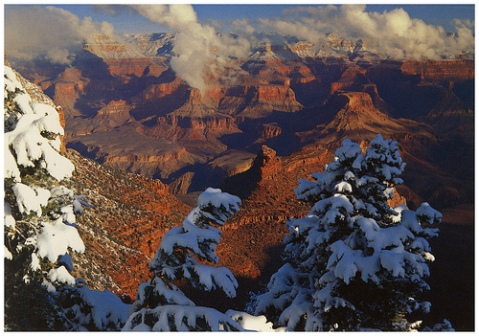 Winter Snow Grand Canyon