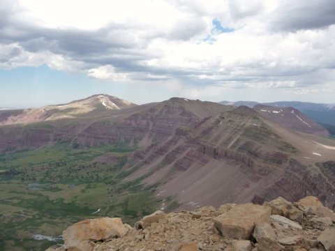 Gilbert Peak, Gunsight Peak, and Dome Peak