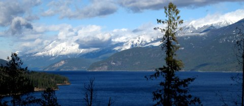 Purcell Mountains, seen here across Kootenay Lake