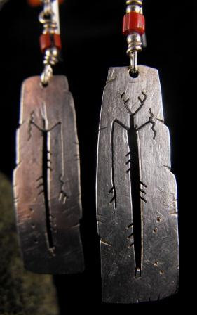 Vintage Earrings Gitchi Manitou Sterling Silver Artisan Made 70.00 obo