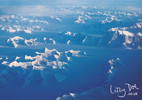 Arctic 1 - mountains from above - photographic print