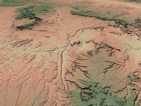 Comb Ridge aerial