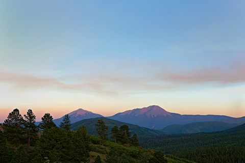 Smoke over Spanish Peaks