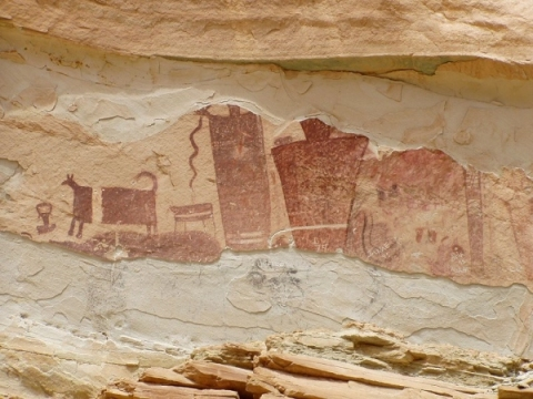 Pictographs, Ninemile Canyon