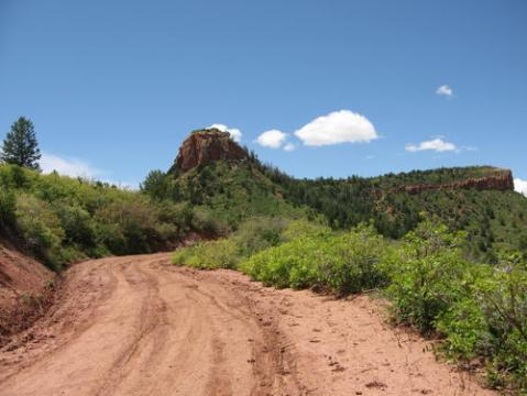 Elk Ridge Road hill