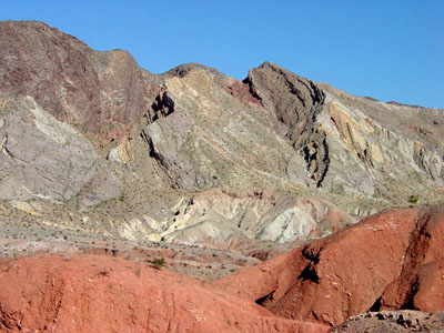 Horse Springs Formation along the North Shore Road in Lake Mead National Recreation Area