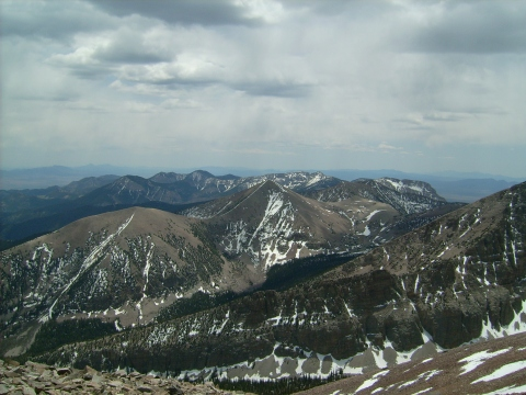 Pyramid Peak seen from the summit of Jeff Davis Peak in Great Basin National Park, NV