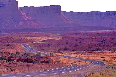Road near mt. waas