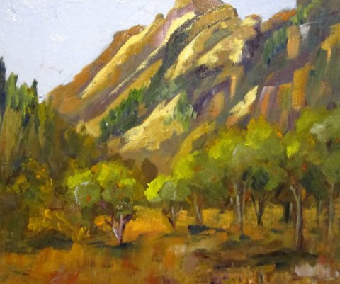 Apple Orchard Sedona Landscape oil painting