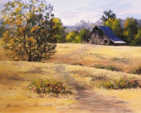 "Large Original Landscape Painting - ""Edge of Autumn"""