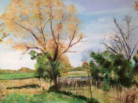 Original Art Acrylic Painting - Fall Landscape