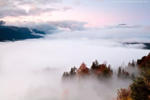 Top morning view in Bavarian Alps/ Landscape Photography/ Canvas Print 20x30 cm/ Forex- Aluminium print