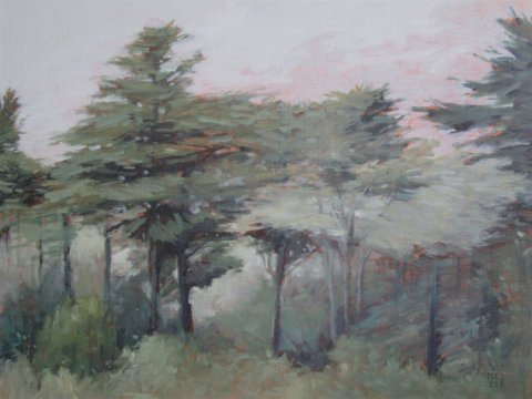 Buena Vista Park Landscape Painting