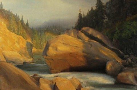 Landscape painting original scenic large
