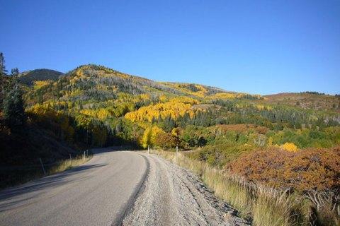 Abajo Mountains fall