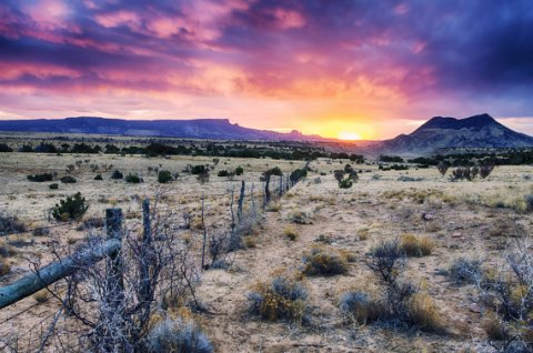 Landscape Photography 8x12 print Sunset Sundown New Mexico Cerro Parido Cerro Cuates FIne art land scape photography