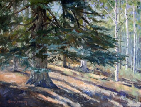 "Large Original oil painting impressionist realism ""The Majority of One"", Forest 18 x 24"