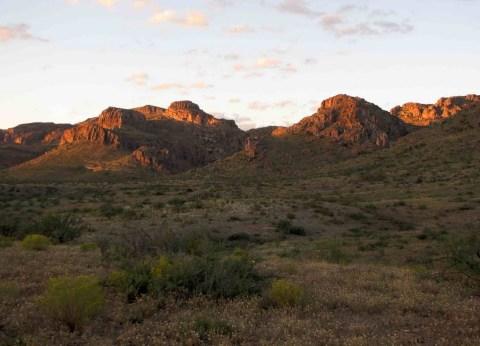 Mountains at the end of Sheep Camp Wash, Galiuro Mountains, E of Redington