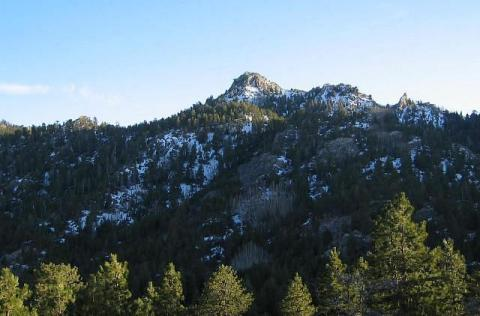 Hualapai Peak from trail