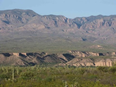 Kielberg Canyon and Galiuro Mountains
