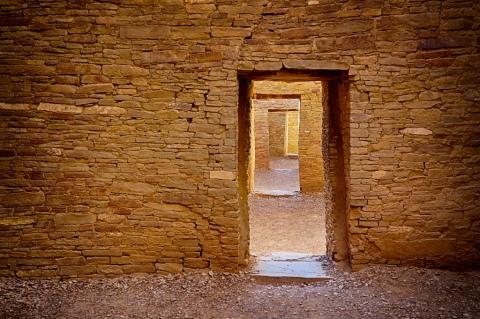 Interior walls Pueblo Bonito