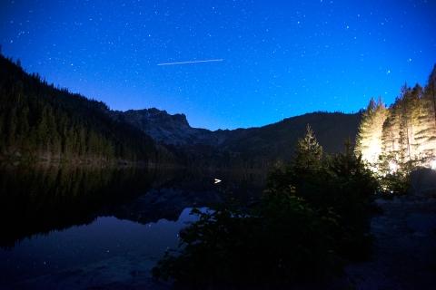Sierra Buttes night