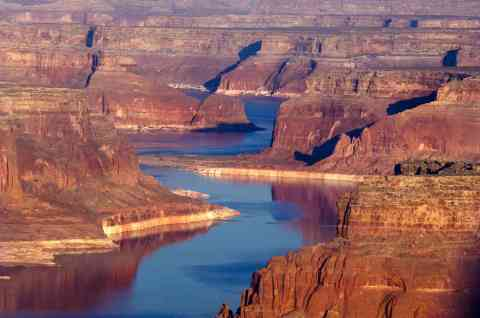 Colorado River upper canyons lake powell