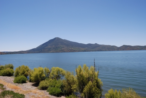Mount Konocti from Clear Lake