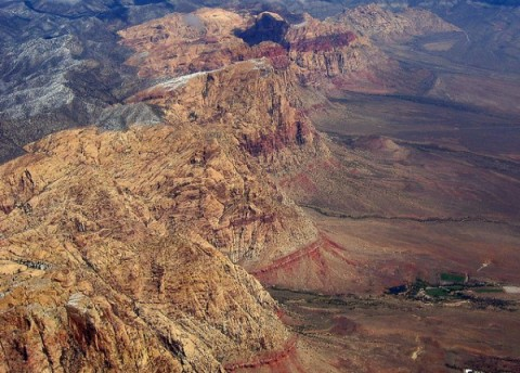 Aerial Red Rock Canyon NV