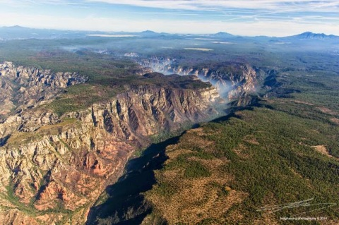 Oak Creek Canyon aerial