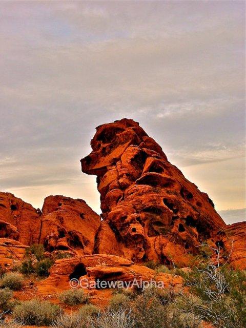 Framed Photography, Guardian Dog Rock, Landscape Photography, Nevada Landscape, Fine Art Photograph, Wall Decor, High Desert Photo, Wall Art