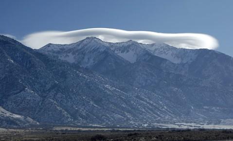 Lenticular cloud over Nephi