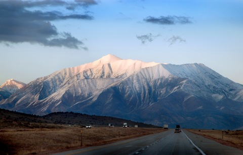 Mount Nebo taken from southwest of Nephi, Utah