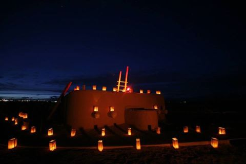 Kiva with Luminarias