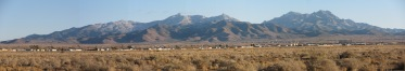 Hualapai Mountain range seen from Kingman