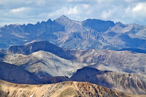 Mt. Elbert and surrounding mountains