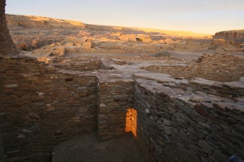 Winter Solstice Marker at Pueblo Bonito