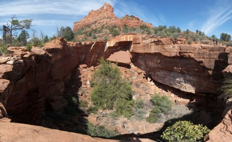 Devils kitchen sinkhole near Sedona