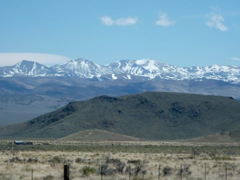 Sierra Nevada Mountains from near California-Nevada State Line