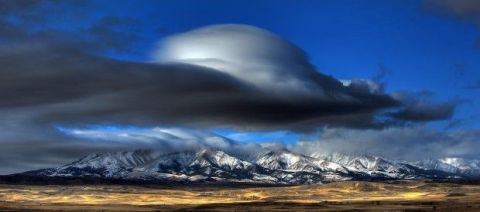 Lenticular cloud over the Crazy Mountains
